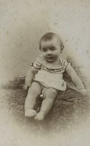 France Lille Portrait Bébé Enfant Ancienne Photo CDV Andre 1900