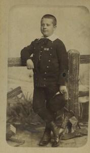 France Lille Portrait Jeune Garcon Enfant Ancienne Photo CDV 1890