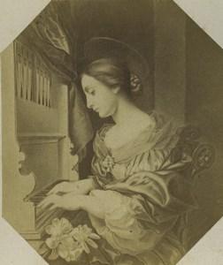 Allemagne Art Musée Carlo Dolci Sainte Cecile Ancienne Photo CDV 1870