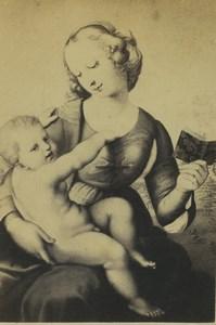 Germany Art Museum Raphael Colonna Madonna Old CDV Photo 1870