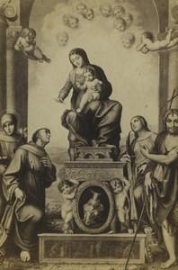 Germany Art Museum Correggio Madonna and Child with Saint Francis CDV Photo 1870
