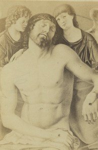 Germany Art Museum Mantegna Dead Christ supported by Two Angels CDV Photo 1870