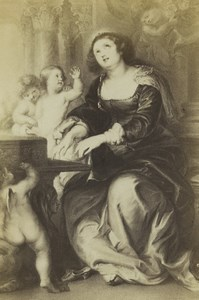 Germany Art Museum Rubens St Cecilia Old CDV Photo 1870