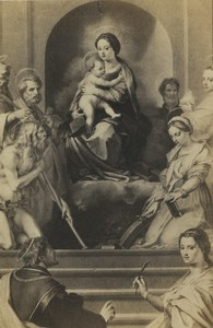 Germany Art Museum Andrea del Sarto Virgin Child & Saints Old CDV Photo 1870