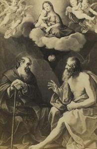 Germany Art Museum Guido Reni Virgin & Hermits Paul Antonius Old CDV Photo 1870