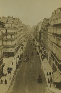France Paris Rue Lafayette street Old CDV Photo 1860