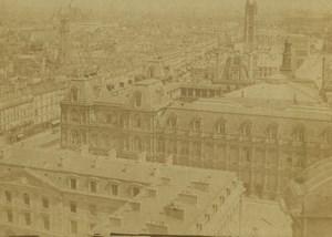 France Paris Panorama Hotel de Ville St Jacques Tower Old CDV Photo Galassi 1860