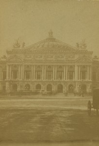 France Paris Opera Old CDV Photo Guerard 1860