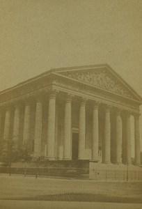France Paris Church La Madeleine Old CDV Photo Guerard 1860