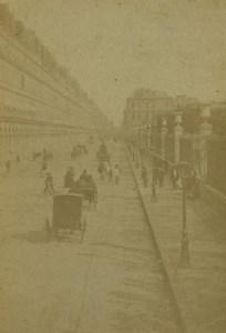France Paris Rue de Rivoli Street Old CDV Photo Guerard 1860