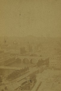 France Paris Panorama Old CDV Photo Guerard 1860