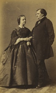 France Paris Prince Napoleon & Princess Clothilde Old CDV Photo Disderi 1860