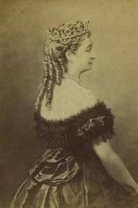France Paris Empress Eugénie de Montijo Old CDV Photo Pierson 1860