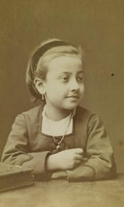 France Lyon Portrait Young Girl Old CDV Photo Antoine Lumière 1872 #1