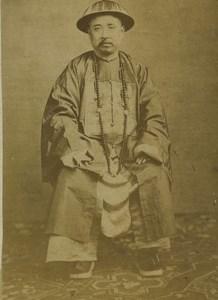China Portrait Man Old CDV Photo 1870