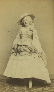 France Paris Young Woman Second Empire Fashion Old CDV Photo Tourtin 1860's #1