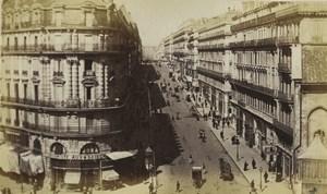 France Marseille rue de la République Liquoriste Aux 4 Saisons Ancienne Photo Neurdein 1870's
