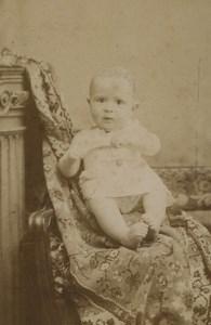 France Lyon baby child Portrait Fashion Old CDV Photo Victoire 1880