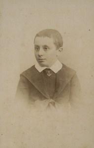 France Lyon child Boy Portrait Fashion Old CDV Photo Victoire 1880 #2