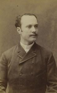 France Lyon Man Portrait Fashion Old CDV Photo Victoire 1880