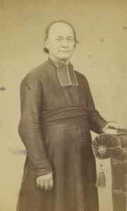 France Saint Etienne Priest Portrait Fashion Old CDV Photo Cheri Rousseau 1865