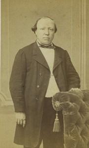 France Saint Etienne Man Portrait Fashion Old CDV Photo Cheri Rousseau 1865