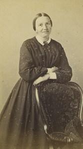 France Saint Etienne Woman Portrait Fashion Old CDV Photo Cheri Rousseau 1870 #3