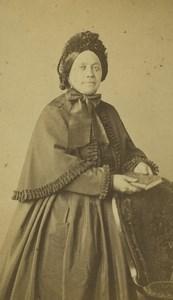 France Saint Etienne Woman Portrait Fashion Old CDV Photo Cheri Rousseau 1870 #4