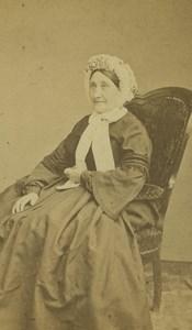 France Saint Etienne Woman Coif Fashion Old CDV Photo Cheri Rousseau 1870
