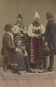 Sweden Dalarna Rättvik Couple Summer Traditional Fashion CDV Photo Eurenius 1868
