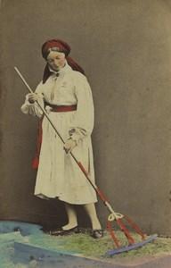 Sweden Herrestad Woman Summer Traditional Fashion Rake CDV Photo Eurenius 1868