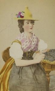Switzerland Vaud Woman Traditional costume Old CDV Photo Sohn 1875