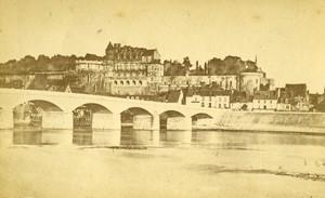 France Amboise castle panorama Old CDV Photo Maurice 1870