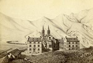 France church of La Salette panorama Old Desroches CDV Photo of gravure 1870