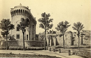 France Dinan castle of Duchess Anne Old Desroches CDV Photo of gravure 1870