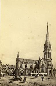 France Douvres church ND de la Délivrande Maugendre CDV Photo of gravure 1870