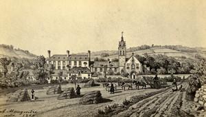 France Bricquebec convent La Trappe Old Maugendre CDV Photo of gravure 1870