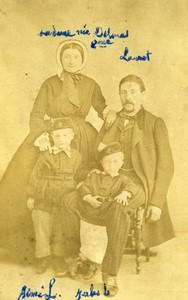 France Marseille Family portrait Delmas Old CDV Photo Leroux 1860's