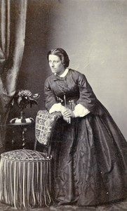 France Paris Woman portrait fashion Old CDV Photo Gerothwohl 1860's