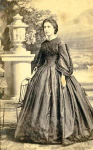 France Toulouse Woman portrait fashion Old CDV Photo Provost 1870