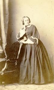 France Strasbourg Woman portrait fashion Old CDV Photo Winter 1860's