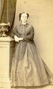 France Nancy Woman portrait fashion Old CDV Photo Perin & Schahl 1870