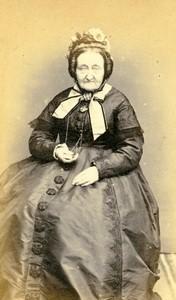 France Tourcoing portrait féminin mode ancienne Photo CDV Blondel 1870
