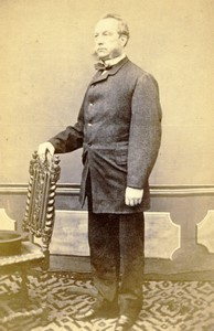 France portrait homme mode Favoris ancienne Photo CDV 1870
