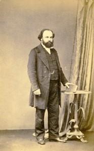 Isle of Wight Ryde portrait homme mode ancienne Photo CDV Oakeshott 1870