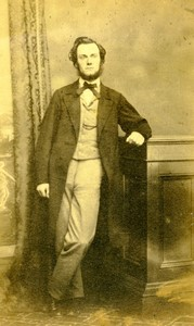 Angleterre Liverpool portrait homme mode ancienne Photo CDV Wilson 1870