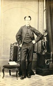 Angleterre Nottingham? portrait homme mode ancienne Photo CDV Shaw 1870