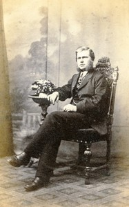 Angleterre Hull portrait homme mode ancienne Photo CDV Widdas 1870