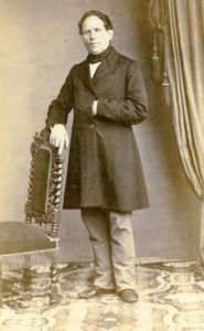 France Bar le Duc Man portrait fashion Old CDV Photo Breuil 1860's