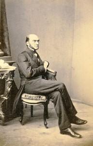 Germany Frankfurt Man portrait fashion Old CDV Photo Schafer 1870
